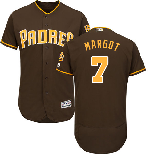 Padres #7 Manuel Margot Brown Flexbase Authentic Collection Stitched Baseball Jersey
