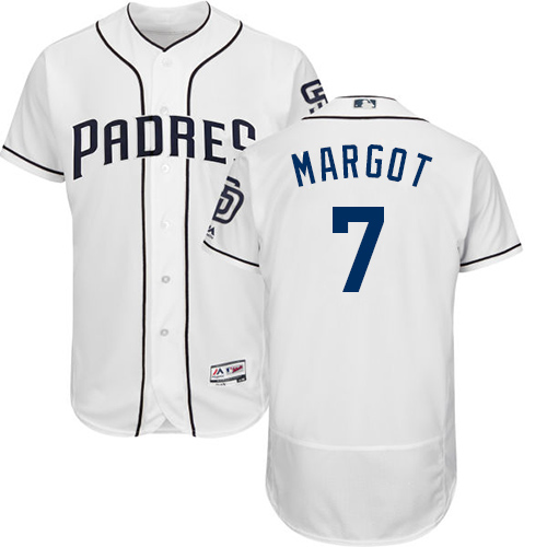 Padres #7 Manuel Margot White Flexbase Authentic Collection Stitched Baseball Jersey