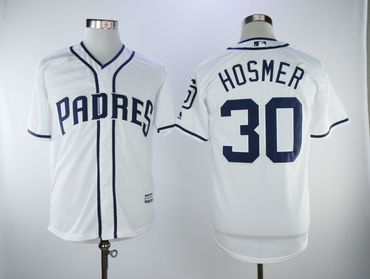 Padres 30 Eric Hosmer White Cool Base Jersey