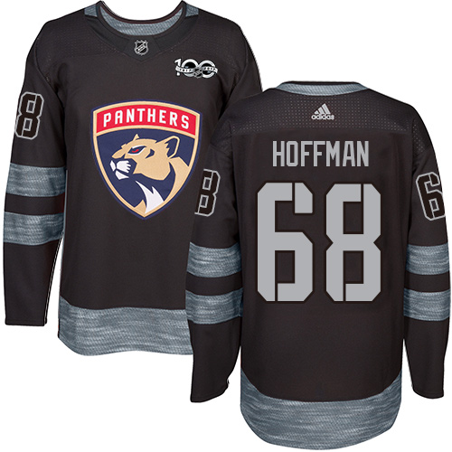 Panthers #68 Mike Hoffman Black 1917-2017 100th Anniversary Stitched Hockey Jersey