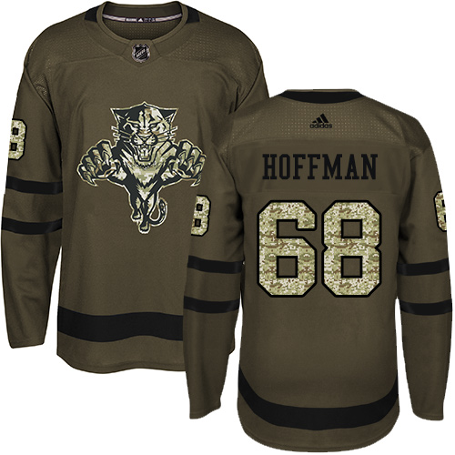 Panthers #68 Mike Hoffman Green Salute to Service Stitched Hockey Jersey