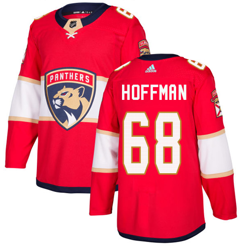 Panthers #68 Mike Hoffman Red Home Authentic Stitched Hockey Jersey