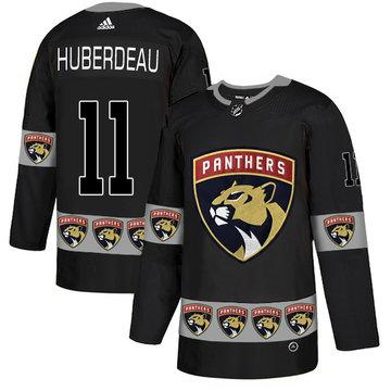 Panthers 11 Jonathan Huberdeau Black Team Logos Fashion Adidas Jersey