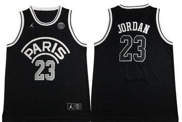 Paris Saint-Germain 23 Michael Jordan Black Jordan Fashion Jersey