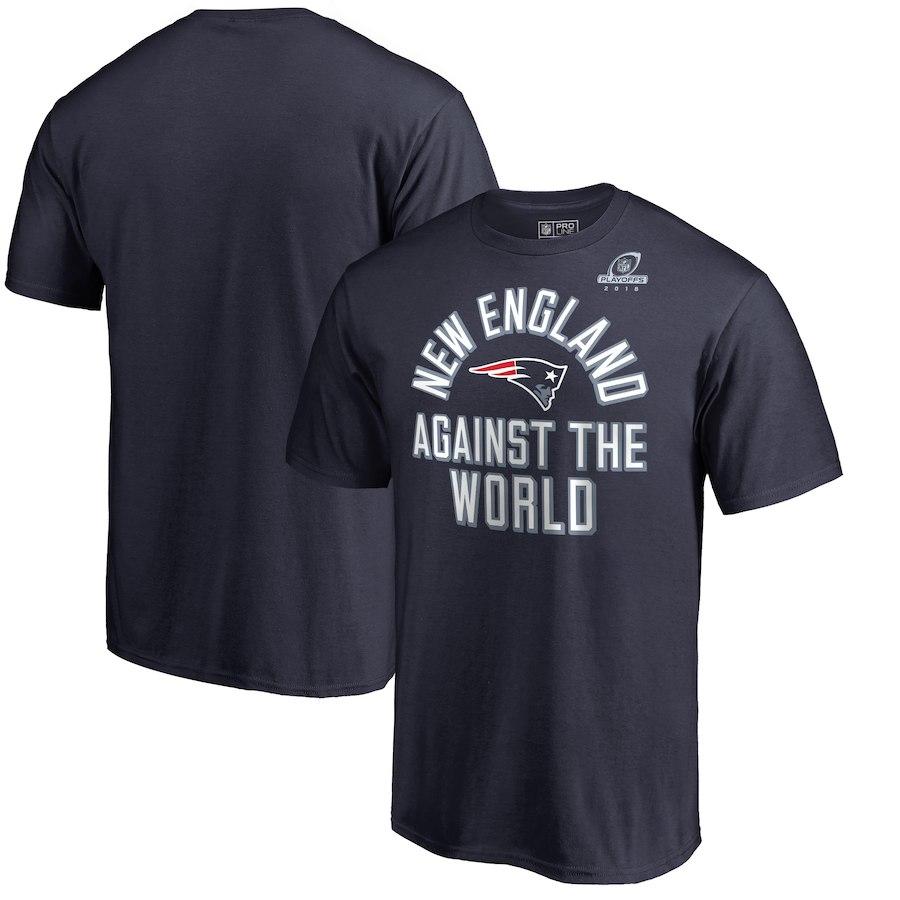 Patriots Navy 2018 NFL Playoffs Against The World Men's T-Shirt