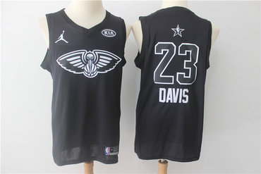 Pelicans 23 Anthony Davis Black 2018 All-Star Game Swingman Jersey
