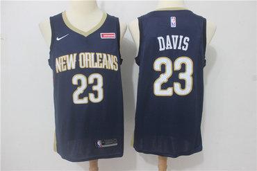 Pelicans 23 Anthony Davis Navy Nike Swingman Jersey