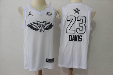 Pelicans 23 Anthony Davis White 2018 All-Star Game Swingman Jersey