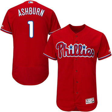 Phillies #1 Richie Ashburn Red Flexbase Authentic Collection Stitched MLB Jersey