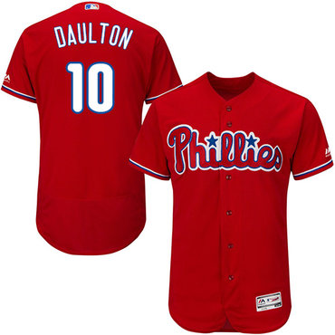 Phillies #10 Darren Daulton Red Flexbase Authentic Collection Stitched MLB Jersey