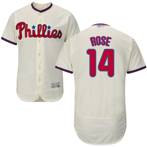 Phillies #14 Pete Rose Cream Flexbase Authentic Collection Stitched Baseball Jersey