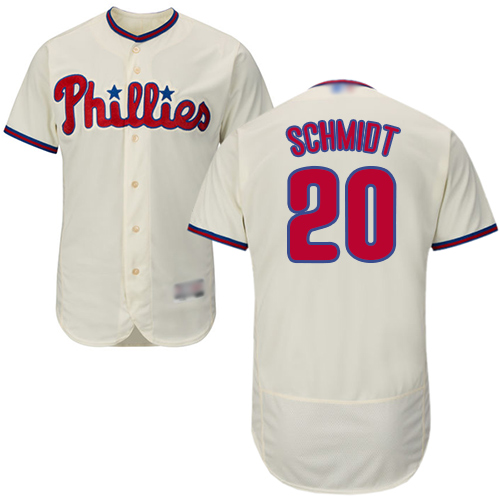 Phillies #20 Mike Schmidt Cream Flexbase Authentic Collection Stitched Baseball Jersey