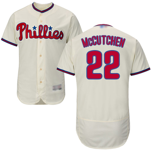 Phillies #22 Andrew McCutchen Cream Flexbase Authentic Collection Stitched Baseball Jersey