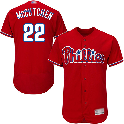 Phillies #22 Andrew McCutchen Red Flexbase Authentic Collection Stitched Baseball Jersey