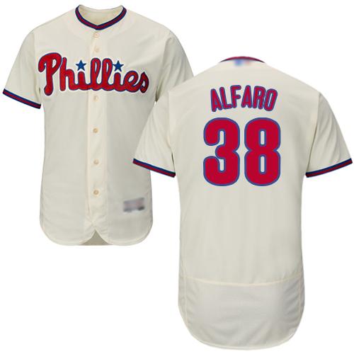 Phillies #38 Jorge Alfaro Cream Flexbase Authentic Collection Stitched Baseball Jersey
