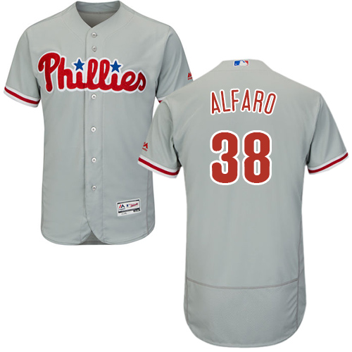 Phillies #38 Jorge Alfaro Grey Flexbase Authentic Collection Stitched Baseball Jersey