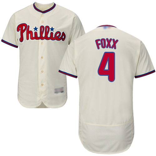 Phillies #4 Jimmy Foxx Cream Flexbase Authentic Collection Stitched Baseball Jersey