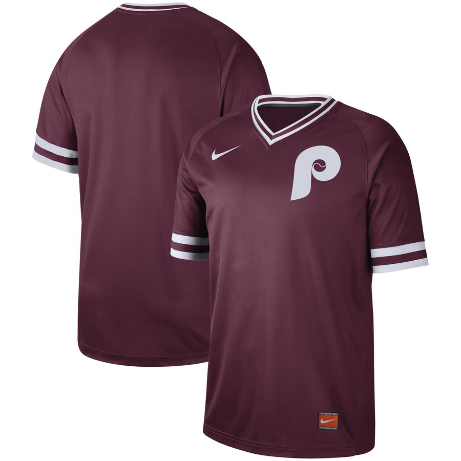 Phillies Blank Red Throwback Jersey