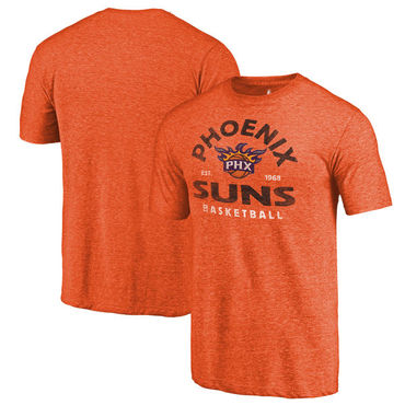 Phoenix Suns Fanatics Branded Orange Vintage Arch Tri-Blend T-Shirt