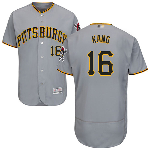 Pirates #16 Jung-ho Kang Grey Flexbase Authentic Collection Stitched Baseball Jersey
