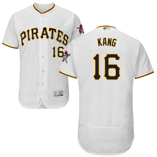 Pirates #16 Jung-ho Kang White Flexbase Authentic Collection Stitched Baseball Jersey