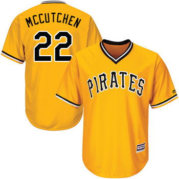 Pirates #22 Andrew McCutchen Gold Cool Base Stitched Youth MLB Jersey