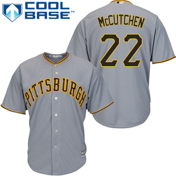 Pirates #22 Andrew McCutchen Grey Cool Base Stitched Youth MLB Jersey