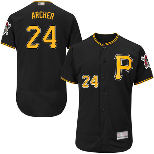 Pirates #24 Chris Archer Black Flexbase Authentic Collection Stitched Baseball Jersey