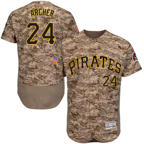Pirates #24 Chris Archer Camo Flexbase Authentic Collection Stitched Baseball Jersey