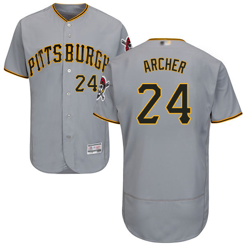 Pirates #24 Chris Archer Grey Flexbase Authentic Collection Stitched Baseball Jersey