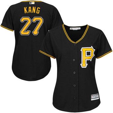 Pirates #27 Jung-ho Kang Black Alternate Women's Stitched MLB Jersey