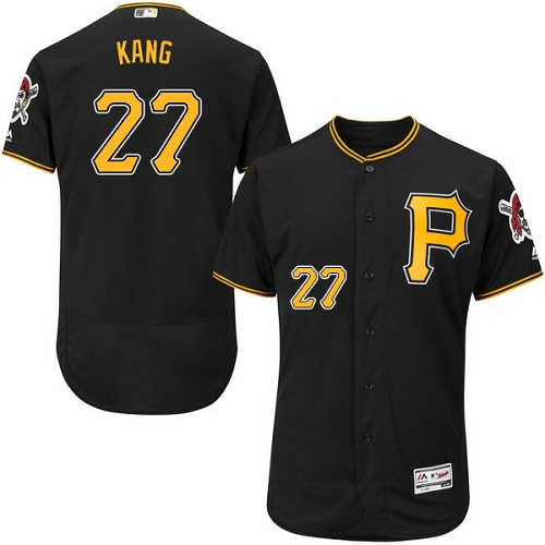 Pirates #27 Jung-ho Kang Black Flexbase Authentic Collection Stitched MLB Jersey