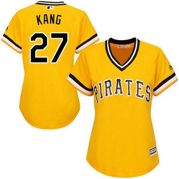 Pirates #27 Jung-ho Kang Gold Alternate Women's Stitched MLB Jersey
