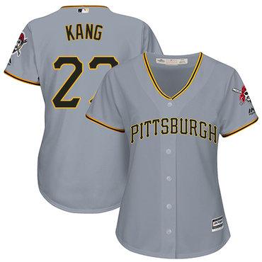 Pirates #27 Jung-ho Kang Grey Road Women's Stitched MLB Jersey