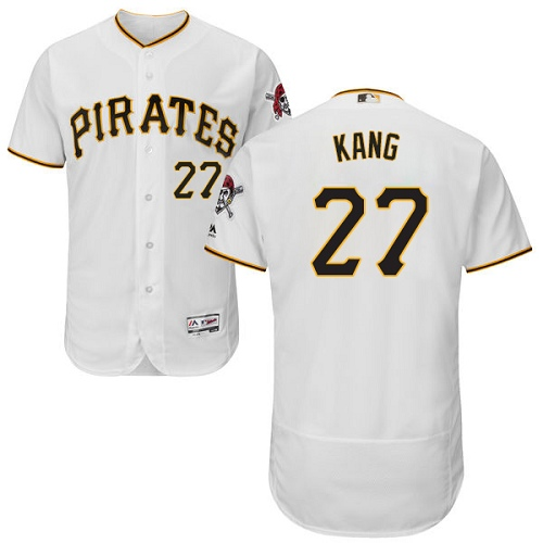 Pirates #27 Jung-ho Kang White Flexbase Authentic Collection Stitched MLB Jersey
