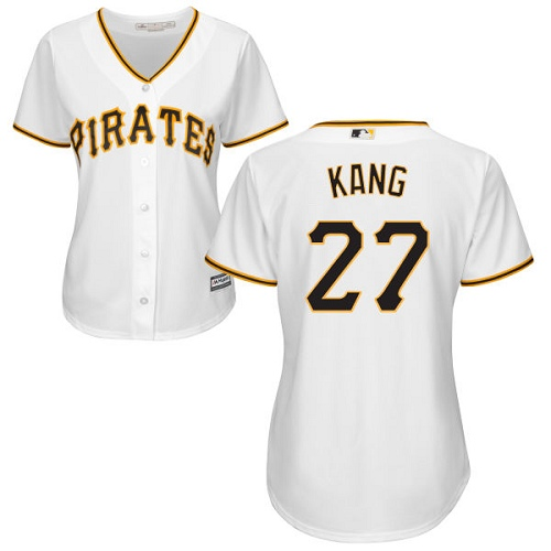 Pirates #27 Jung-ho Kang White Home Women's Stitched MLB Jersey