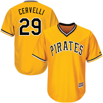 Pirates #29 Francisco Cervelli Gold Cool Base Stitched Youth MLB Jersey