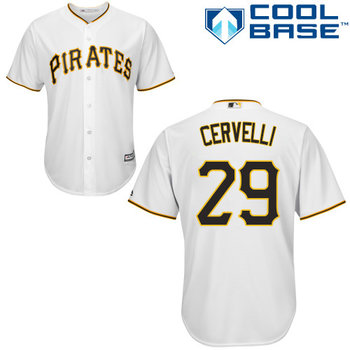 Pirates #29 Francisco Cervelli White Cool Base Stitched Youth MLB Jersey