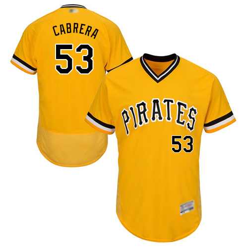 Pirates #53 Melky Cabrera Gold Flexbase Authentic Collection Stitched Baseball Jersey