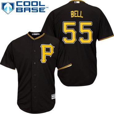 Pirates #55 Josh Bell Black Cool Base Stitched Youth MLB Jersey