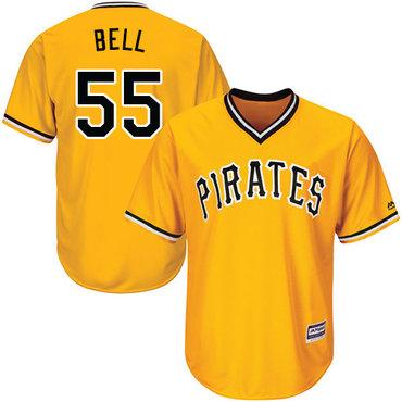 Pirates #55 Josh Bell Gold Cool Base Stitched Youth MLB Jersey