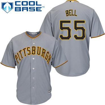 Pirates #55 Josh Bell Grey Cool Base Stitched Youth MLB Jersey