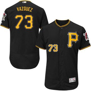 Pirates #73 Felipe Vazquez Black Flexbase Authentic Collection Stitched Baseball Jersey