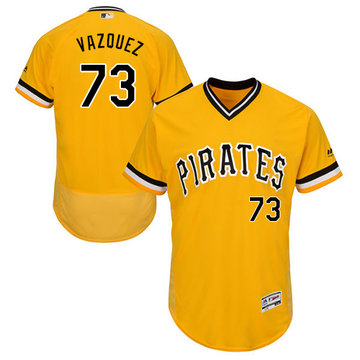 Pirates #73 Felipe Vazquez Gold Flexbase Authentic Collection Stitched Baseball Jersey