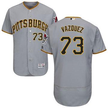 Pirates #73 Felipe Vazquez Grey Flexbase Authentic Collection Stitched Baseball Jersey