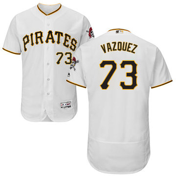 Pirates #73 Felipe Vazquez White Flexbase Authentic Collection Stitched Baseball Jersey