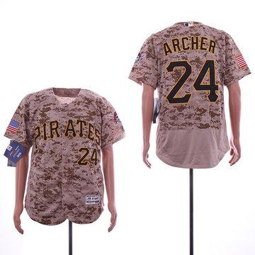 Pirates 24 Chris Archer Olive Flexbase Jersey