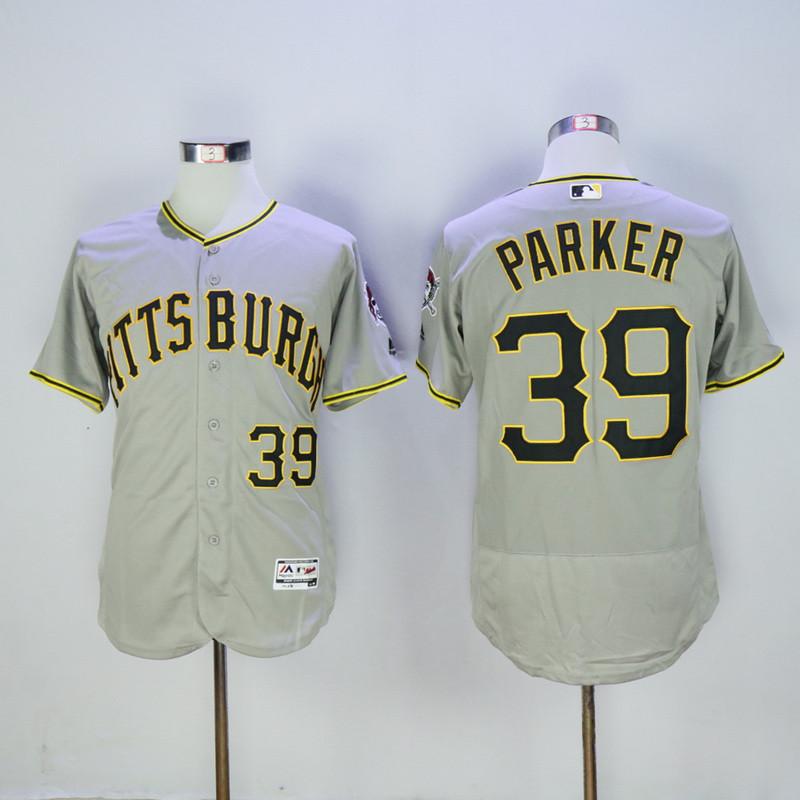 Pirates 39 Dave Parker Grey Flexbase Jersey