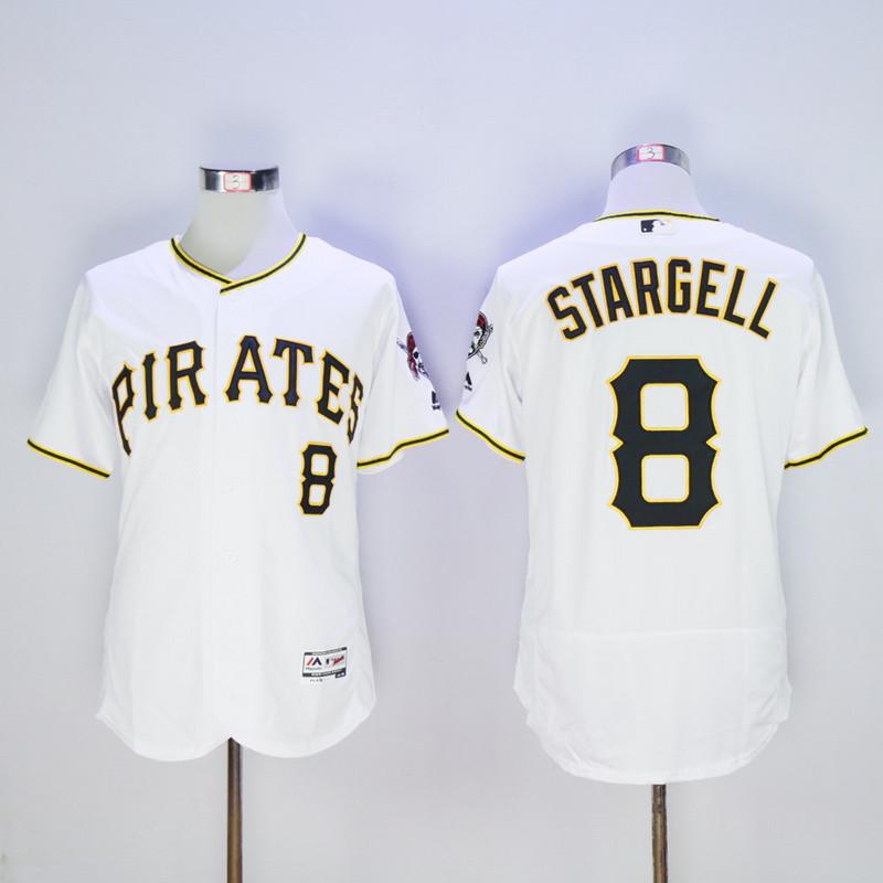 Pirates 8 Willie Stargell White Flexbase Jersey