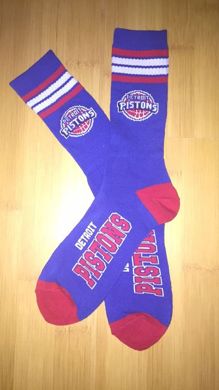 Pistons Team Logo Blue NBA Socks